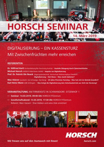 HORSCH Seminar 2019 OHNE Gesellschaftabend