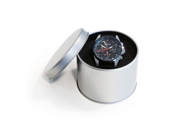 Chronograph Metallgehäuse + Silikonarmband