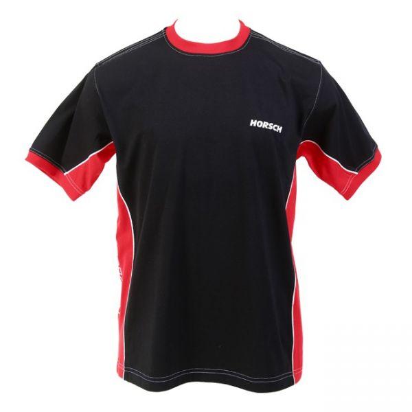 T-Shirt schwarz-rot